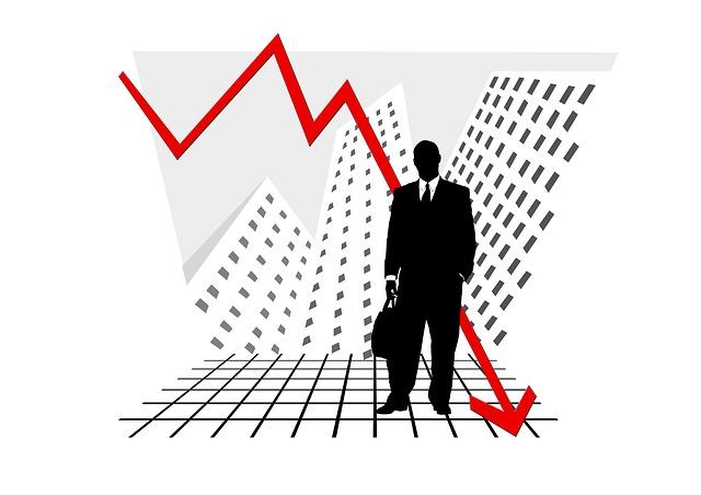падение график