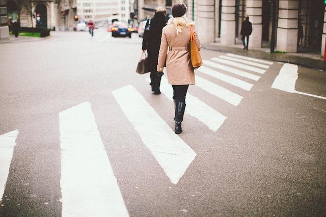 пешеходный переход зебра