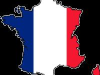 карта франции флаг