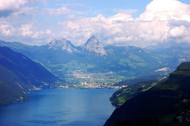 озеро горы