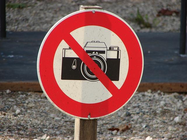 Запрет фотографирования