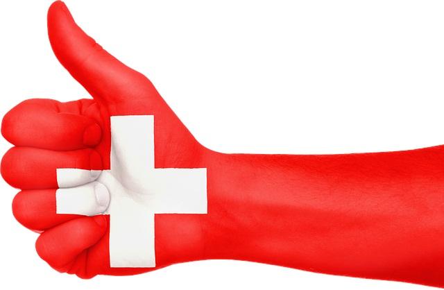 швейцария рука флаг